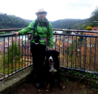 Vreni und ich auf der Burg Welyn