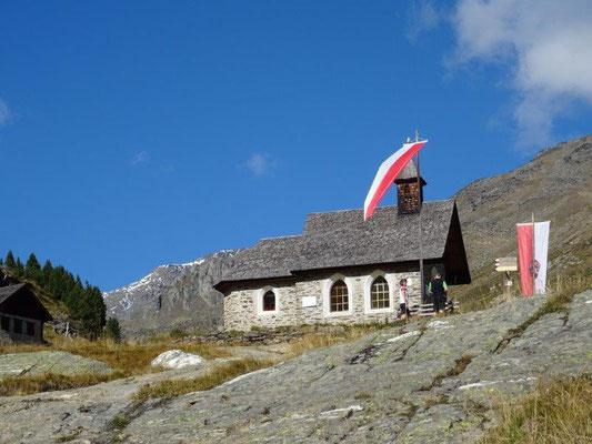 Kleine Kapelle an der Zufallhütte