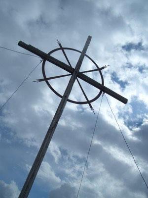 Das Gipfelkreuz des Vorderen Sajatkopfes