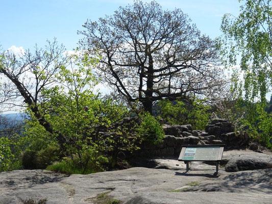 Reste der ehemaligen Burganlage
