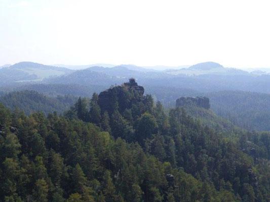 Blick von der Wilhelminenwand zum Marienfels