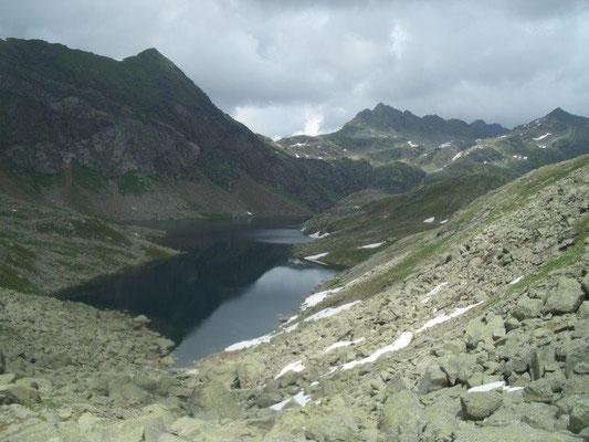 Blick zu den Spronser Seen
