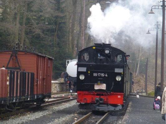 Am Bahnhof in Steinbach