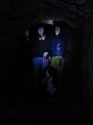 Unterirdische Gänge im Monte Brione