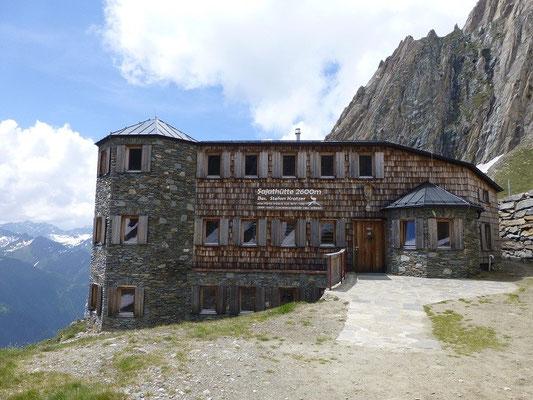 Die Sajathütte, das Schloß in den Bergen, war unser Domizil für eine Nacht