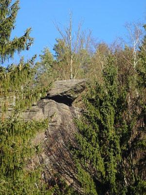 65 Meter überm Zschopautal thront die Brückenklippe, ein atemberaubender Aussichtspunkt