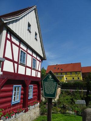 Typisches Umgebindehaus in der Sächsischen Schweiz
