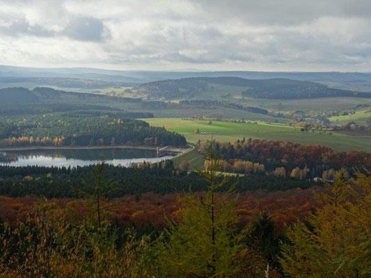 Herbst an der Talsperre Cranzahl