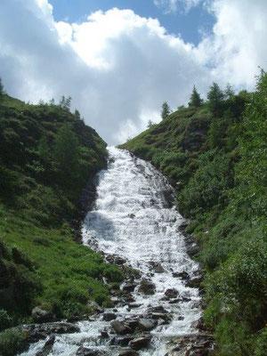 Wasserfall unterhalb der Bergerseehütte