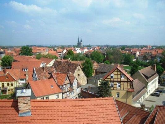 Blick über die Dächer von Quedlinburg