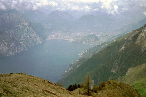 Blick vom Monte Baldo Richtung Riva del Garda