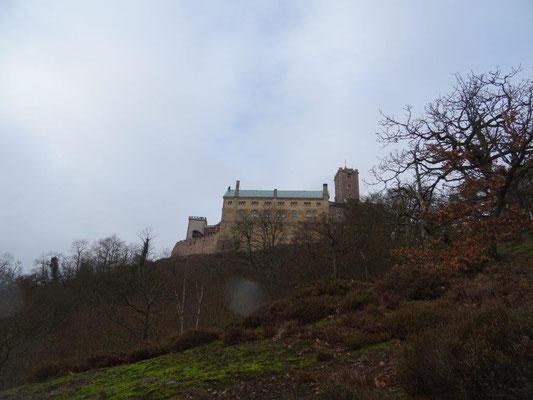 Blick zurück zur Wartburg