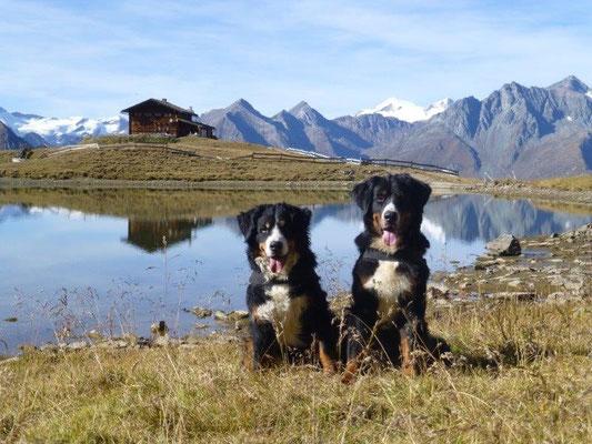 Gusti und Vreni an der Zupalseehütte