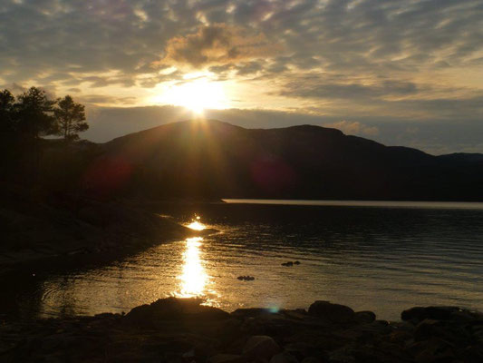 Sonnenuntergang am Nissersee
