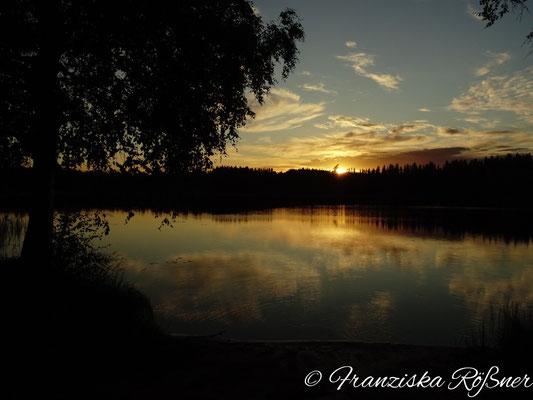 Sonnenuntergang am Sävsjön