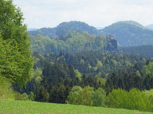 """Blick vom Panoramaweg zum """"Neuen Wildenstein"""" - da wollen wir hin :-)"""