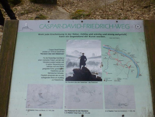 Bei Kaspar David Friedrich war es nur ein Wanderer ....