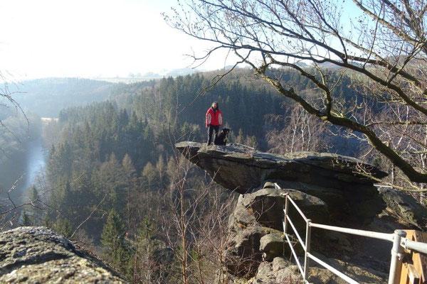 Vreni und ich auf der Brückenklippe