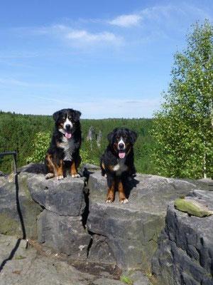 Gusti und Vreni an der Kanzelsteinaussicht