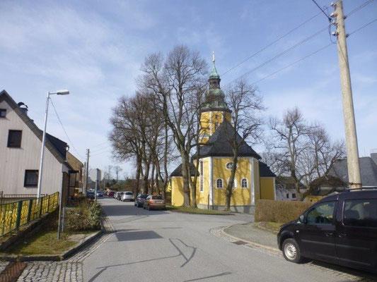 Die Kirche von Scheibenberg...