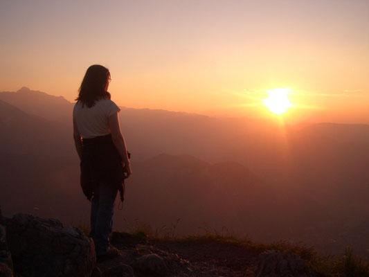 Sonnenuntergang am Jenner