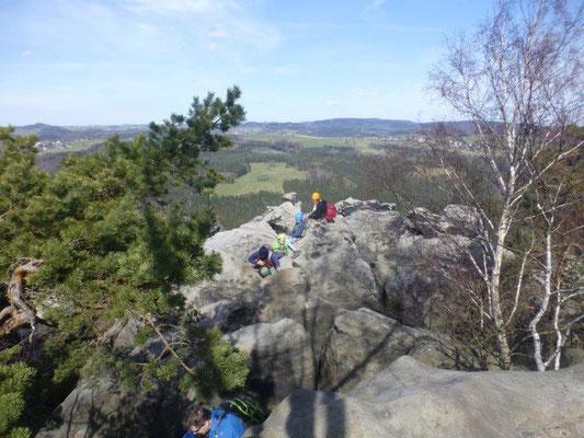 Am langen Horn endet der Klettersteig Häntzschelstiege