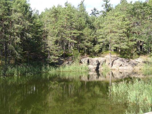 Der malerische Göllersee bei Algund