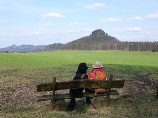 Vreni und ich auf der Rentnerbank (Foto: Kaj Kinzel)