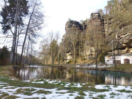 Fischteich an der Schweizermühle