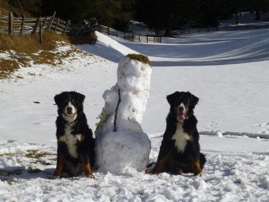 Einer von den dreien ist der Schneemann :-)