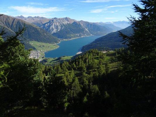 Blick zum Reschensee