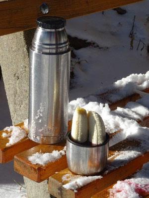 Wenn die Bananen zu kalt sind, hilft Glühwein :-)