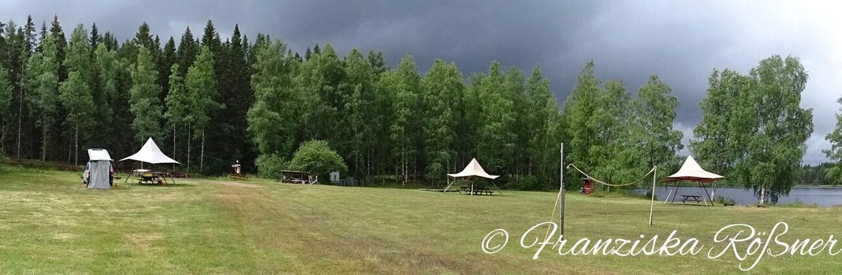 Gewitterstimmung am Naturcampingplatz Bergslagsgården