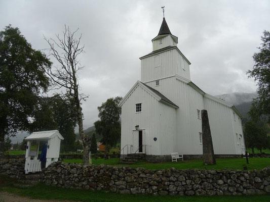 Die kleine Kirche von Valle im Setesdal