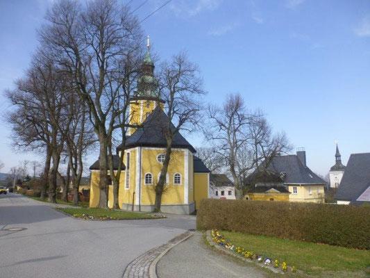 Die kleine Kirche von Scheibenberg