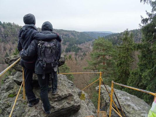 Ausblick vom Sachsenstein