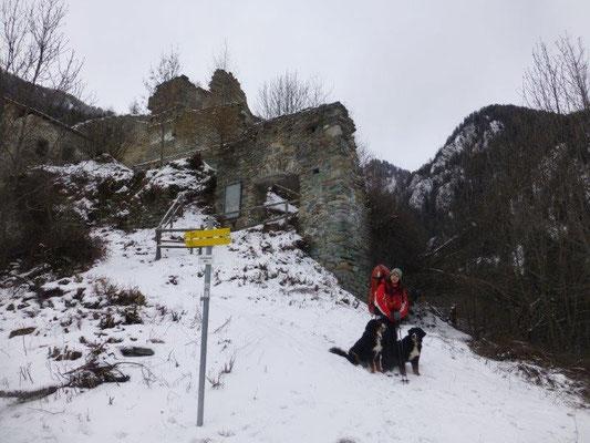 An der Burgruine Rabenstein