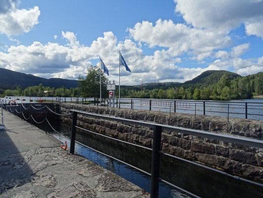 Schleuse am Telemark-Kanal