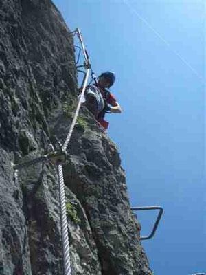 Auf dem Isidor-Klettersteig am Grünstein
