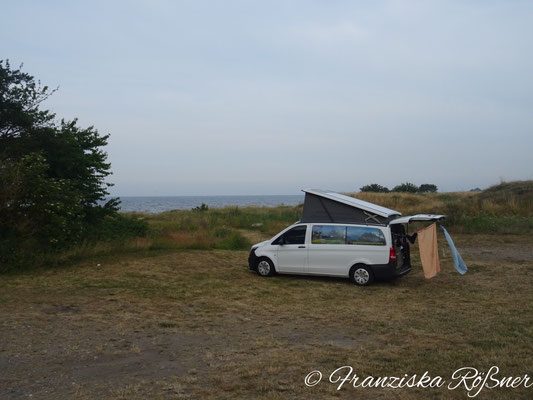 Unser Schlafplatz bei Trelleborg