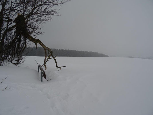 Auf den Feldern stapften wir durch tiefe Schneewehen
