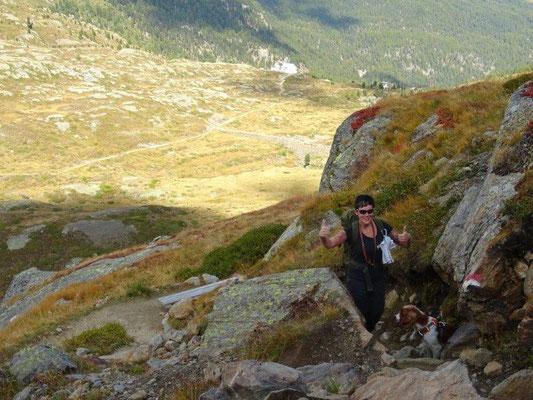 Beim Aufstieg zur Marteller Hütte