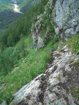 Der Rinnkendlsteig am Königssee ist ein für Hunde sehr anspruchsvoller Weg und sollte nur mit absolut trittsicheren und leitererfahrenen Hunden begangen werden.
