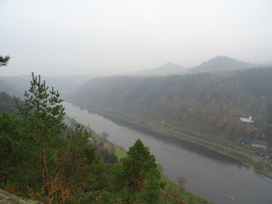 Blick von der kleinen Bastei Richtung Schmilka