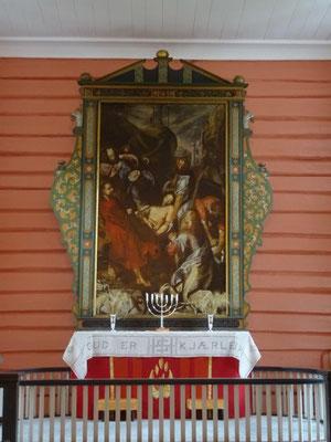 Das Altarbild in der  Kirche von Valle stammt aus der Mitte des 16. Jahrhunderts