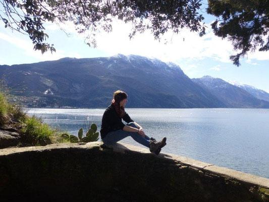 Am Aufstieg zum Monte Brione