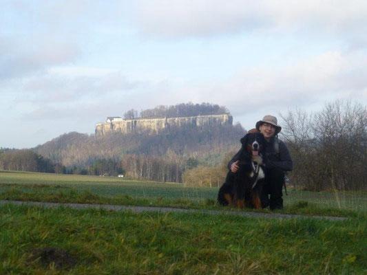 Blick hinüber zur Festung Königstein