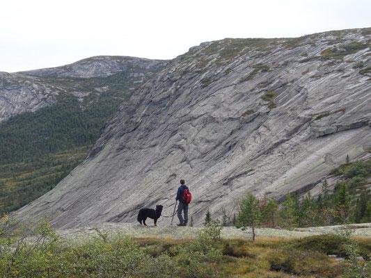 Aufstieg zum Homfjellet