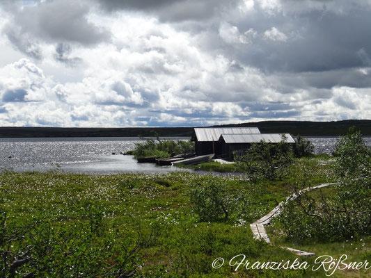 Fischerhütten am Rösjöarna