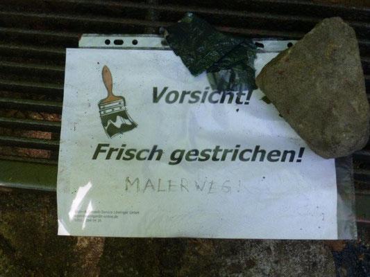 """Auf dem """"Malerweg"""" :-)"""